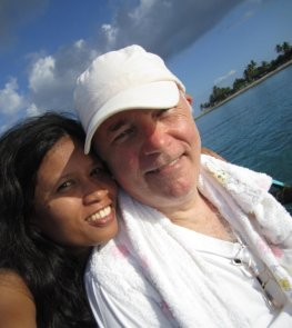Medellin, Cebu: Juvy and I on vacation.