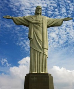 Humble Confidence: Statue of Jesus Christ, symbol of humble confidence.