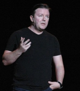 Happiness: Happiness expert, comedian Ricky Gervais.