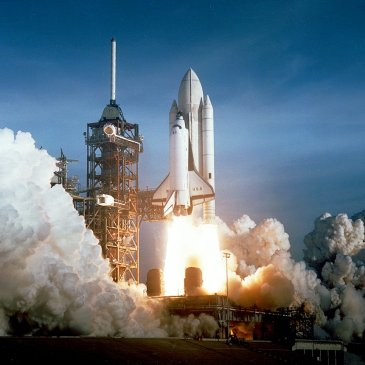 Shuttle launch, one of many accomplishments of science and engineering, they think with skepticism