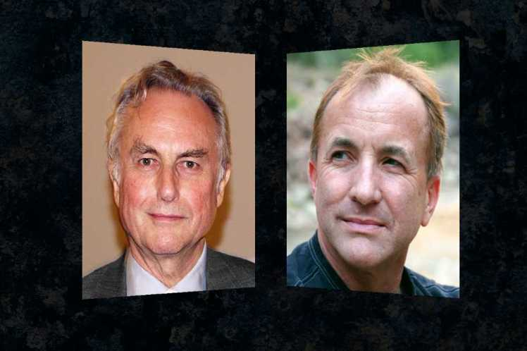Atheists Richard Dawkins and Michael Shermer