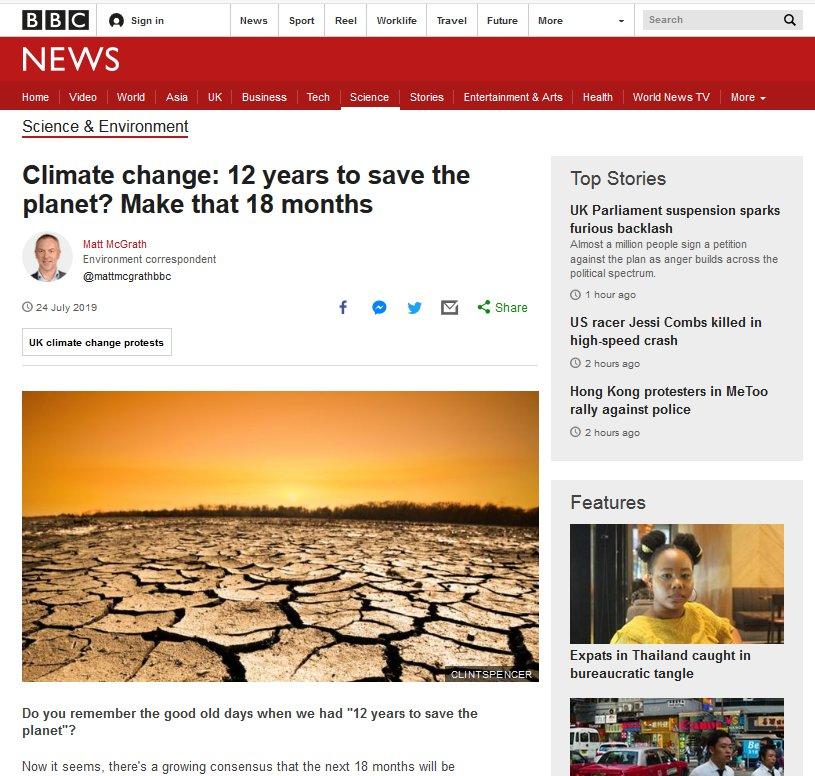 BBC headline adding to Chronic Stress