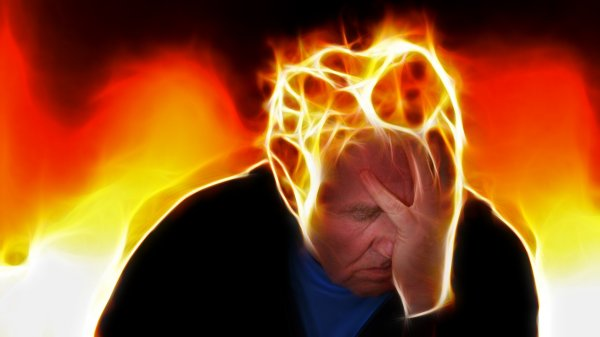 Stressed-out man suffering from Amygdala Effect