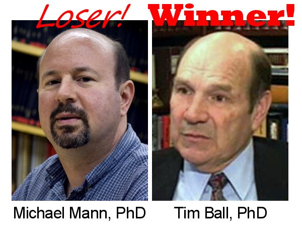 Loser Michael Mann and winner Tim Ball.