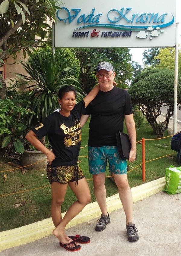 Juvy and Rod Martin at beach resort