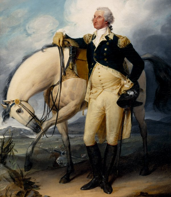 George Washington with horse. At least one conspiracy had been made to kill him.