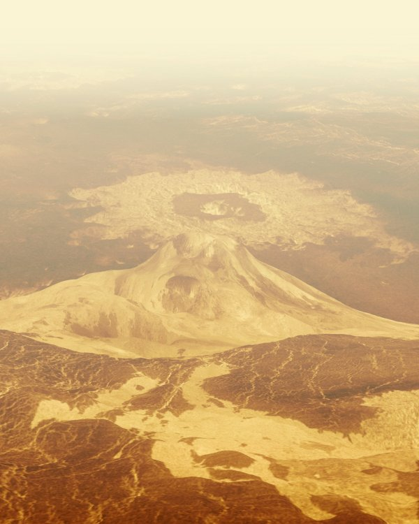 Composite image of what it might look like on the surface of Venus. Planetary science