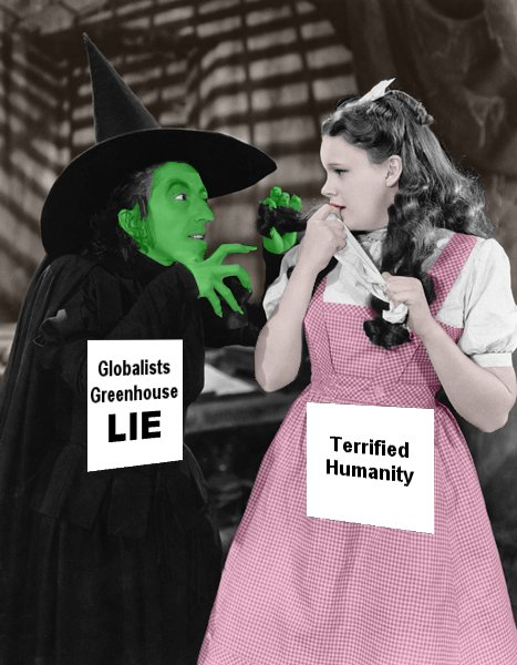 From Wizard of Oz, colorized publicity photo of Wicked Witch and Dorothy.